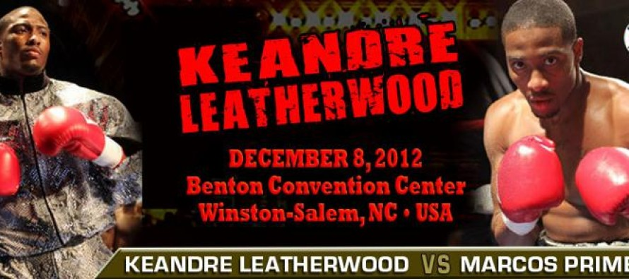 Keandre Leatherwood Returns December 8th in North Carolina