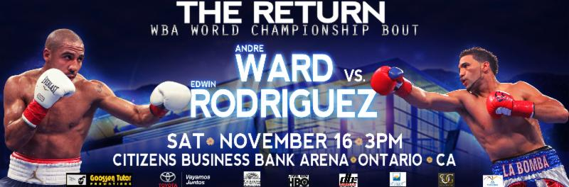 Ward-Rodriguez Weigh-In To Be Streamed Live