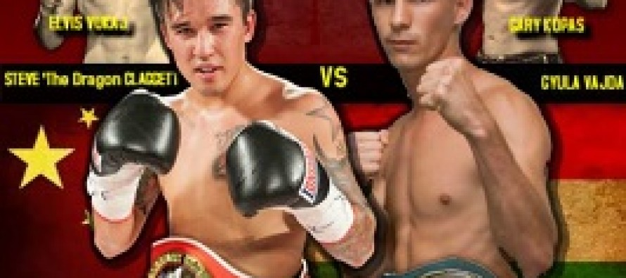 Steve Claggett To Take On Hungarian Champion Gyula Vajda In Calgary On February 7th