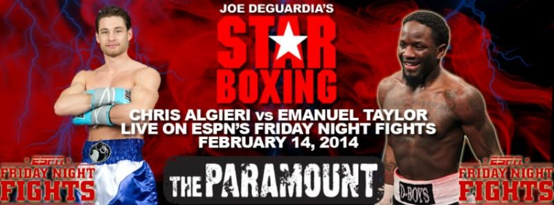 Algeri-Taylor Feb 14th Friday Night Fights
