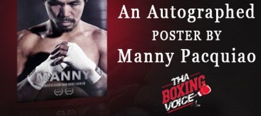 Enter to Win an Autographed Poster of Manny Pacquiao