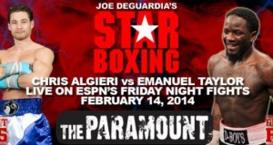 Weights From Friday Night Fights Algeri-Taylor