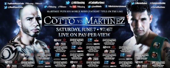 Cotto-Martinez Tix On Sale Wednesday
