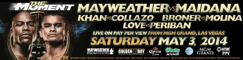 Broner-Molina, Love-Periban Fill Out Mayweather-Maidana PPV