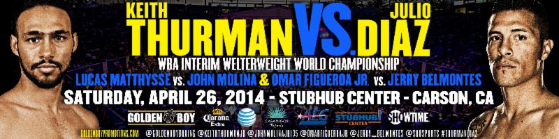 "Ticket Info For Thurman-Diaz ""Don't Blink"" Tripleheader"
