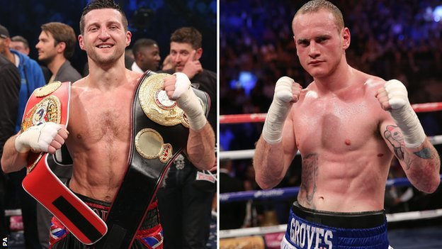 FROCH AND GROVES GOING FACE-TO-FACE ON 'MAY DAY' RINGSIDE