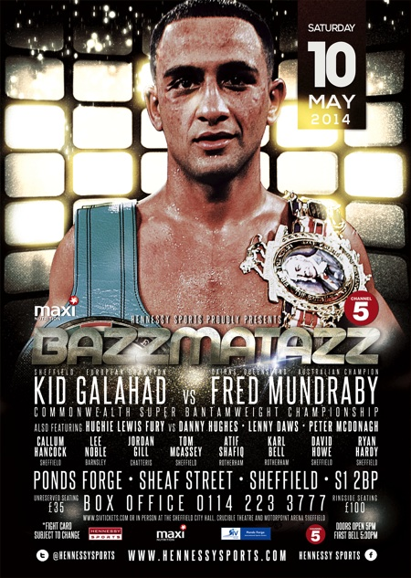 KID GALAHAD TO FACE 'THE GENERAL' ON MAY 10TH FOR THE COMMONWEALTH TITLE