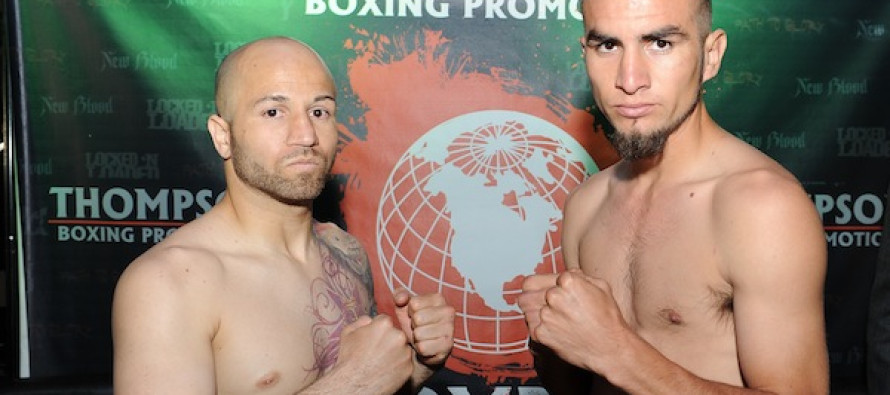 "Weights & Photos from Thompson Boxing Promotions ""Locked n Loaded"" Weigh in"