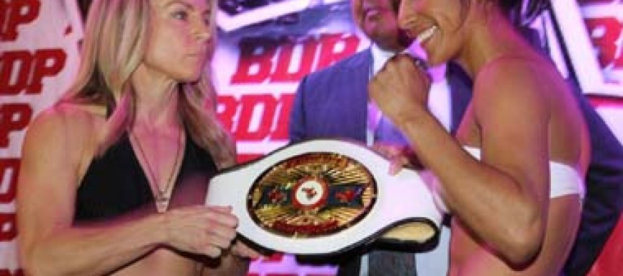 Kenia Enriquez And Jolene Blackshear Make Weight For NABF Women's Junior Flyweight Title Bout
