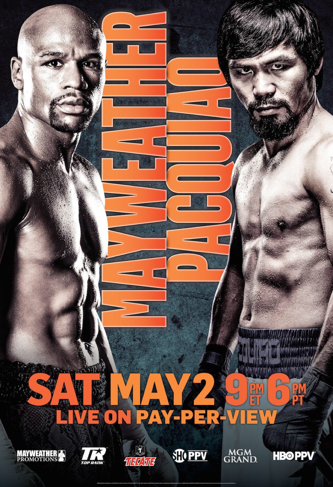 Floyd Mayweather Jr. Manny Pacquiao Fight Poster