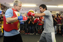 Pacquaio returns to Hollywood to finish training