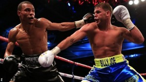 Billy Joe Saunders (right) Chris Eubank Jr. (left)