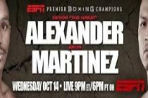 Devon Alexander takes on Aron Martinez Wed. Oct. 14 in Glendale on PBC on ESPN