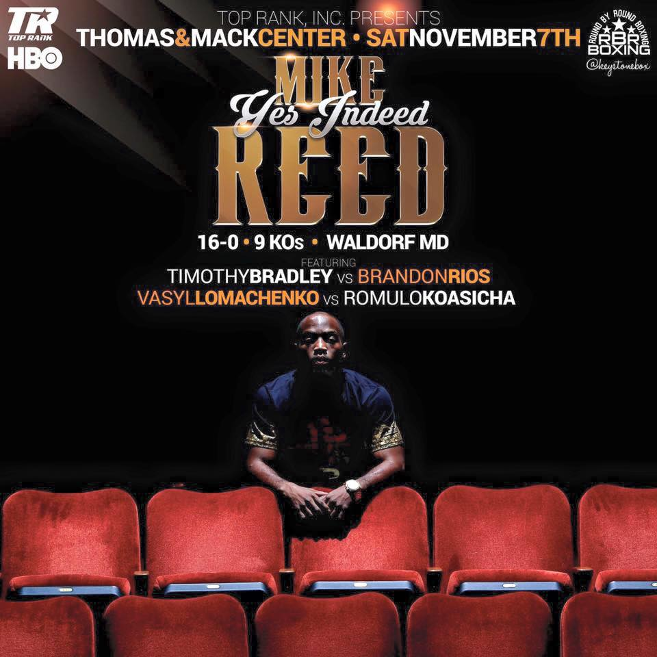 Mike Reed Back In Action On Bradley-Rios Card | Tha Boxing