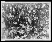 Celebrations in Harlem after Louis defeated Carnera. New York World-Telegram and the Sun Newspaper Photograph Collection (Library of Congress).